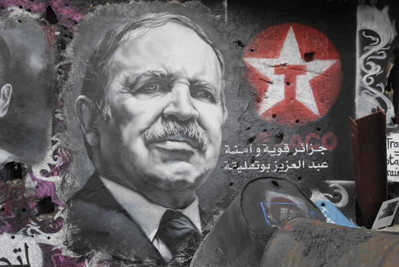 Wall painting of Bouteflika