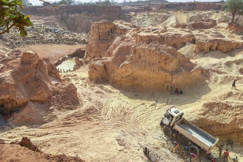 Gold extraction site