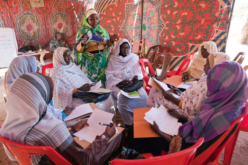Women attending a workshop